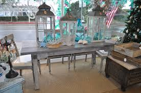 distressed dining room table and chairs 4584