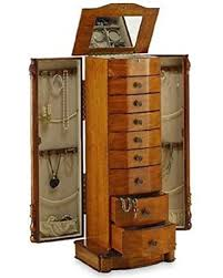 jewelry armoire oak finish large floor standing 8 drawer wooden jewelry armoire with mirror
