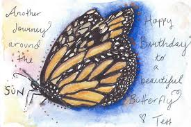 card invitation design ideas beautiful butterfly colored sketch