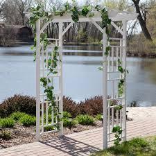 pergola arbor garden white archway backyard wedding gazebo trellis