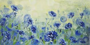 buy cornflowers oil painting on livemaster online shop