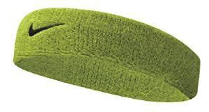 sweat headbands nike swoosh headband atomic green black osfm