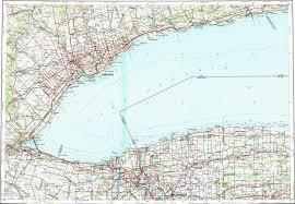 Niagara Falls Canada Map by Download Topographic Map In Area Of Toronto Hamilton Niagara