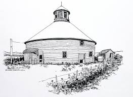barn park county indiana drawing by robert birkenes