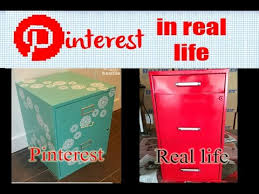 How To Paint A Metal File Cabinet Pinterest In Real Life Filing Cabinet Transformation Youtube