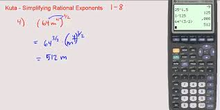 kuta simplifying rational exponents 1 through 8 youtube