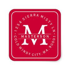 monogram christmas christmas monogram stickers zazzle