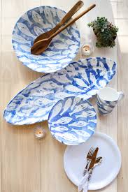 blue and white home accessories coastal inspiration al fresco
