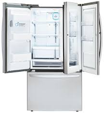 lg bottom freezer french door refrigerator lfxs27466s lg appliances 27 u0027 french door refrigerator stainless