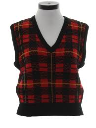 plaid sweater vintage yes eighties sweater 80s yes womens black and