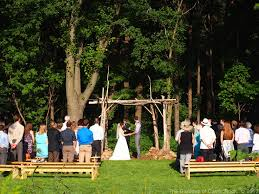 the gardens of castle rock wedding in the woods at the gardens