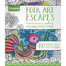 crayola aged coloring book folk art escapes target