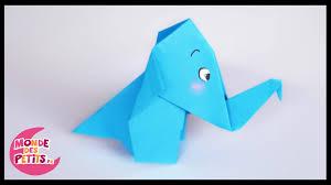 Pliage De Serviette En Papier 2 Couleurs Papillon by Origami L U0027elephant En Papier Youtube