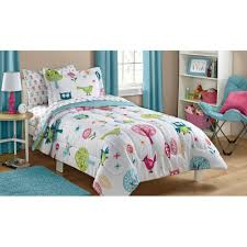 Twin Beds For Girls Mainstays Kids Woodland Bed In A Bag Bedding Set Walmart Com