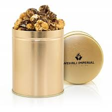 custom popcorn tins 1 quart your logo printed on the tin
