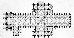 Medieval Cathedral Floor Plan 1250 1400 Gothic Architecture I