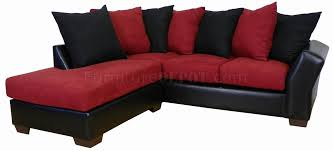 Red Sectional Sofas by Burgundy Fabric U0026 Black Bicast Modern Sectional Sofa