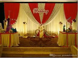 Wedding Backdrop Background Custom 3m 6m Wedding Backdrop Swag Party Curtain Celebration Stage