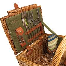 picnic basket for 2 picnic time 213 87 130 somerset style lid picnic