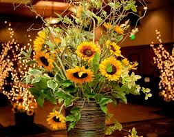 Sunflower Wedding Decorations Table Sunflower Table Centerpieces Wonderful Sunflower Table