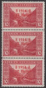 Austro Hungarian Flag Postage Stamps Of Bosnia And Herzegovina Austro Hungarian Rule