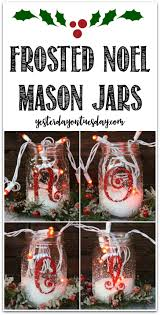 frosted noel mason jars how to transform simple mason jars into