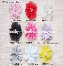 muti dots shabby fabric flowers accessories for diy hair and