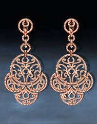 Rose Gold Chandelier Earrings Chandelier Rose Gold Earrings Azontreasures Com