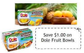 dole fruit bowls 1 00 1 dole fruit bowls in slightly sweetened coconut water