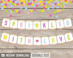 baby sprinkle baby sprinkle banner baby shower instant