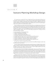 section 4 scenario planning workshop design strategic issues