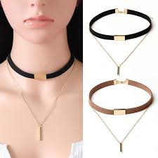 velvet choker necklace pendant images Fashion black velvet choker necklace pendant chain of gold chocker jpg