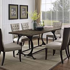 dining room table legs kitchen table industrial dining set wood and stainless steel