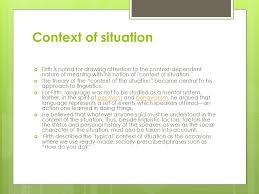 firth on language and context ppt