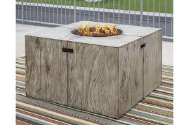 large fire pit table peachstone square fire pit table ashley furniture homestore