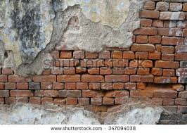 exposed brick old concrete wall exposed brick wall stock photo 347094038