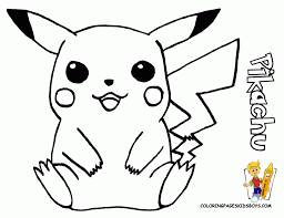 pokemon pikachu coloring page awesome ness pinterest pikachu