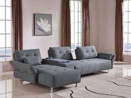Modern Fabric Sectional Sofas Vig Furniture Divani Casa Testro Modern Grey Fabric Sectional Sofa