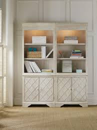Hooker Bookcases Casual Cottage Coastal Bunching Bookcase With Storage Cabinet By