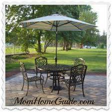 Iron Table And Chairs Patio Privacy For A Chain Link Fence