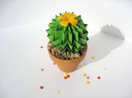 Green Desk Accessories by Origami Cactus Succulent Paper Plant Grass Green U0026 Tropical