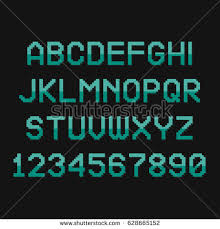 vector distorted glitch font trendy style stock vector 557621101