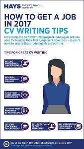 cv writting infographic cv writing tips hays