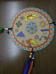 zilker elementary art class second grade native american shields