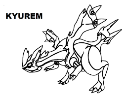 pokemon coloring pages white kyurem free legendary pokemon coloring pages for kids