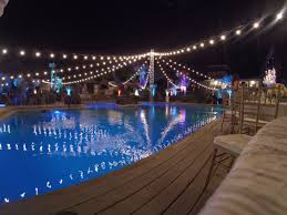 Outdoor Cafe Lighting by Party Lighting Rental Tampa Uplighting Gobo Projectors