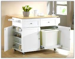 kitchen island with storage cabinets kitchen island with trash can cart bin mobile w bag storage cabinet