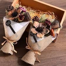 valentines day present fashion artificial flowers creative made gift box dried