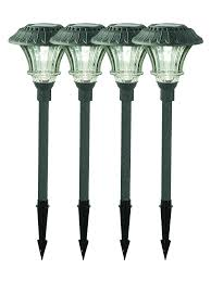 Brightest Led Solar Path Lights by Amazon Com Set Of 4 Solar Garden Path Lights Glass And Powder