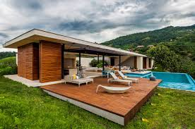 terrace outdoor furniture pool house in villeta colombia